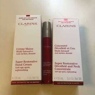 Clarins sample lamer la prairie Shiseido fresh hr guarlain