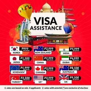 TOURIST VISA ASSISTANCE