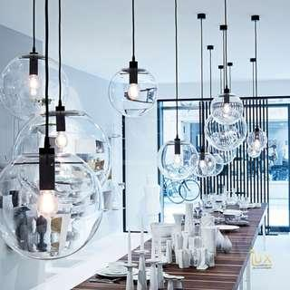 🚚 Modern Glass-Globe Pendant Light