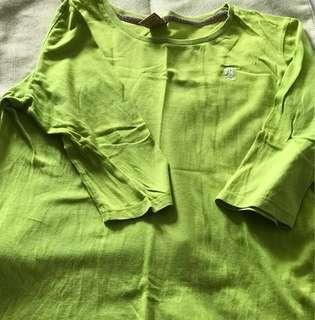 Green Half Sleeved Top