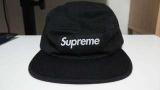 Supreme camp cap leather buckle strap