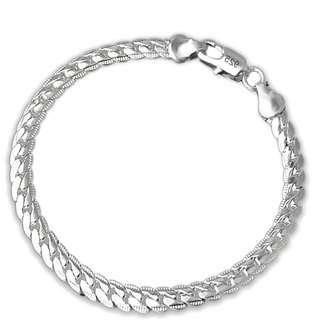 Exquisite Shiny 925 Silver Plated Unisex Bracelet