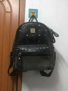 Authentic MCM studded backpack