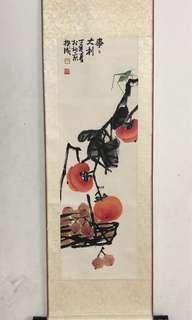 Chinese Art Painting Beijing Artist Zhang Kuicheng 北京画家 张揆成 事事大利 丁亥年(2007)