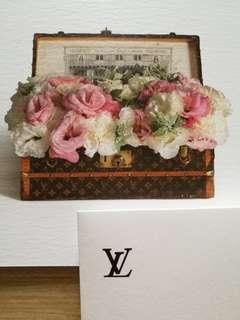 AUTHENTIC Louis vuitton LV gift card tag birthday new xmas Christmas limited edition package packaging envelope message card tag wish greeting luxury TRUNK vintage classic case LUGGAGE travel