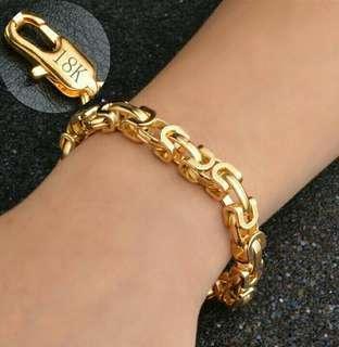 Korean Style 18K Gold Plated 9MM Unisex Bracelet