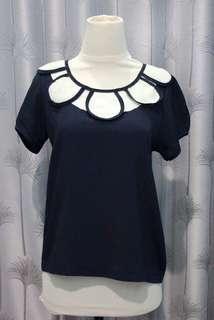 Navy Short Sleeve Top