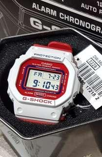 *ORIGINAL* Casio G-Shock Retro Watch DW-5600TB-4AER (Red & White)