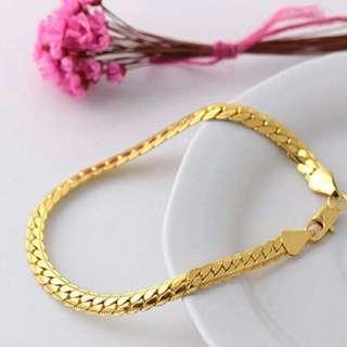 18K Gold Plated Sparkling Bracelet (Unisex)