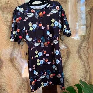 Whitney Eve jewel printed body on dress SZ small (8/10)