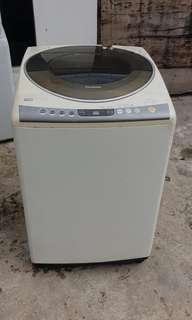 Used Panasonic inverter washer 14.0kg washing machine mesin basuh fully automatic stainless steel drum in good condition