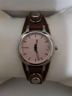 Authentic Fossil Watch for ladies with original calf leather strap