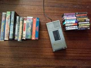 VINTAGE CASSETTE TAPES AND VHS TAPES
