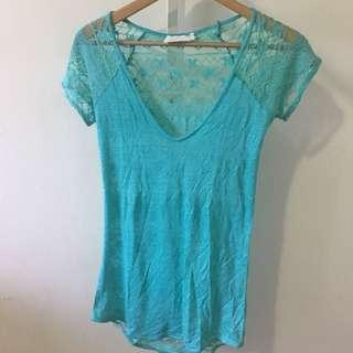ZARA Teal knitted top