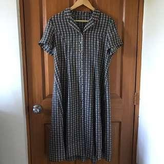Button-down Vintage Dress