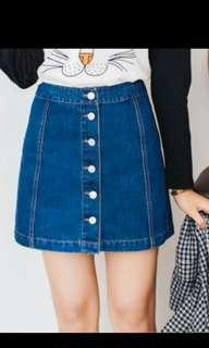 (BNIP)Button Down Denim Skirt