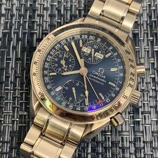 Omega Speedmaster Triple Date 3523.80 Blue Dial Automatic Watch
