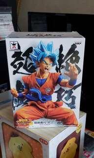 全新日本景品龍珠孫悟空藍色頭髮造型figure