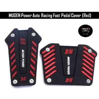 MUGEN Power (Red) Racing Car Foot Pedal Cover for Auto Transmission 2 Pcs Installation In Stock