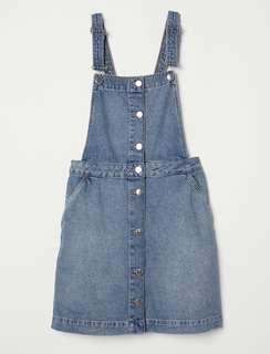 H&M Denim Dungaree Dress Size EUR38