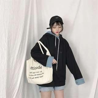Black oversized pullover