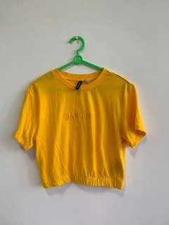 Yellow mustard Crop Top