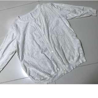 Milky white top