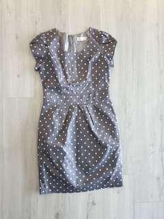 BN Polka dot grey dress