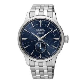 """Seiko Presage Power Reserve Cocktail Time """"Blue Moon"""" Made in Japan SSA347J1 Automatic Watch"""