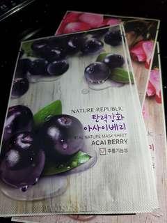 Masker Nature Republic Acai Berry