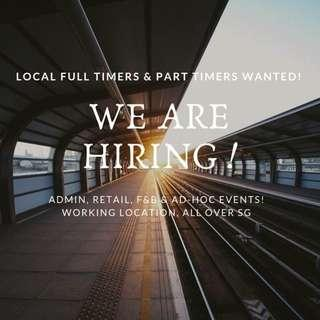 JOB FOR LOCAL FT & PT
