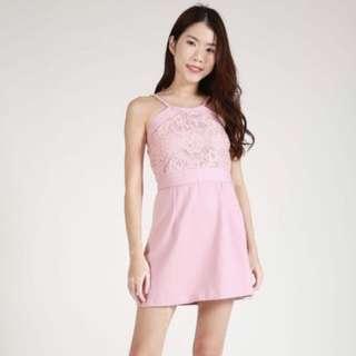 Modelle Co Lace Pink Dress