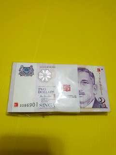 $2 millennium year note 2000(100note)