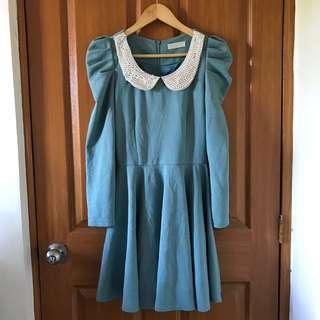 Blue Green Dress