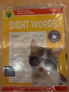 Sight words worksheets (38 worksheets)