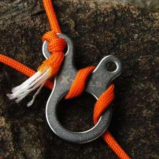 3-Hole Knot-Tying Carabiner for Camping/Climbing (Set of 2)