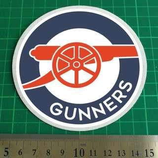 Arsenal GUNNERS - Static Cling Car Windscreen Decals. 11cm overall diameter. $8 each. 2 for $15. 3 for $20 + Free Normal Mail. Add $2.90 for AM Mail.