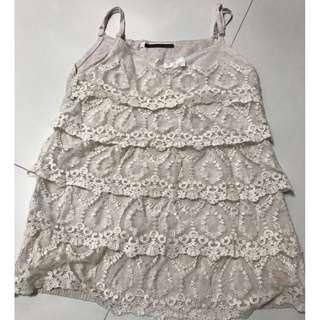 Lace layer vest