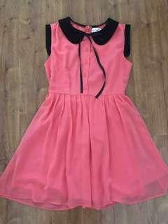 Cute coral chiffon dress