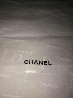 AUTHENTIC CHANEL wrapping paper bag package packaging paper white wrapper wrap wrapping bag pillow stuffing packing