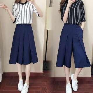 🚚 Set of stripe shirt and culottes