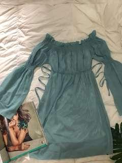 Offshie Ruffle Boho Dress