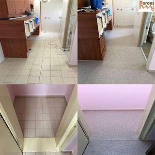 Epoxy flake surface (kitchen floor)