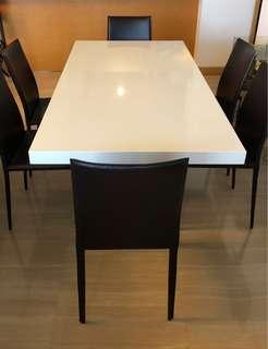 Unity Dining Table & Elliot Dining Chairs