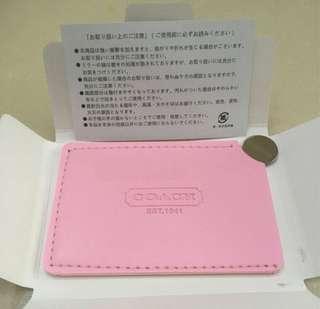 Coach 淺粉紅色 日本專門店 限量版 贈品鏡子 連原裝盒 日文說明書 ~ 專櫃VIP贈品