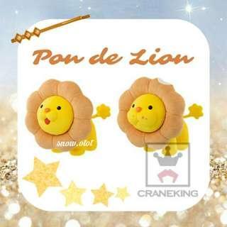 日版Pon de Lion公仔☆日本直送 Banpresto/波堤獅/冬甩獅子/donut lion/mister donut/plush/soft toy/kids doll/accessories
