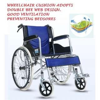 """24"""" WHEELCHAIR, SELF PROPEL, LIGHT WEIGHT AND PORTABLE"""