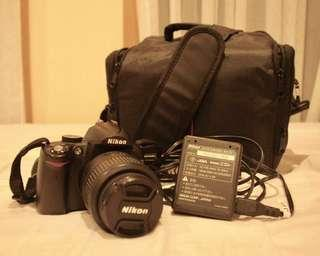 Nikon D5000 camera SLR with accessories