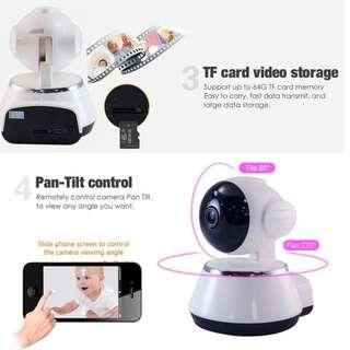 New Ready Stock - Mini CCTV Wifi IP Camera Link to Phone App - Very Clear and Sharp Display
