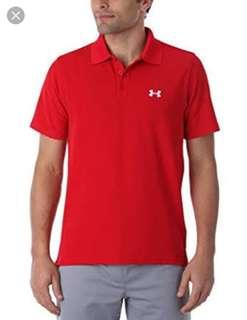 Under Armour Red Polo Shirt